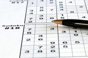 Sudoku Puzzle Game Logic Pen Leisure Mind